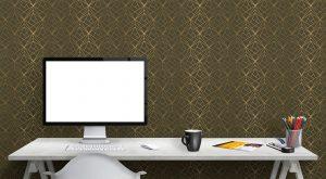 3D Wallpaper #20 | TST custom wallpaper | Green & Gold Wallpaper | Wallpaper Printer JHB