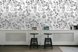 Modern Wallpaper #33 - TST | TST custom wallpaper | Wallpaper Printer JHB | Squiggles Wallpaper | Home Wallpaper