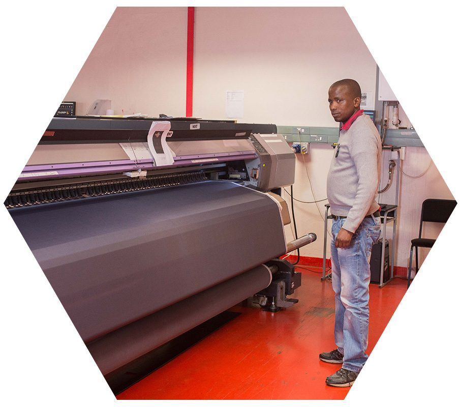 TST fabric printing in the print room | The Solutions Team