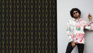 Retro & Funky Wallpaper #15 - TST | TST custom wallpaper | Wallpaper Printer JHB | Black Background Wallpaper | Home Wallpaper