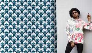 Retro & Funky Wallpaper #16 - TST | TST custom wallpaper | Wallpaper Printer JHB | Blue & Aqua Wallpaper | Home Wallpaper