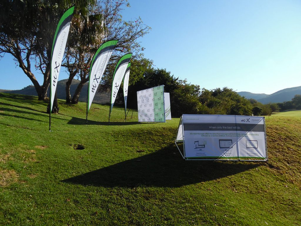 A-Frame and Sharkfin Banners | Golf Day Branding Supplier