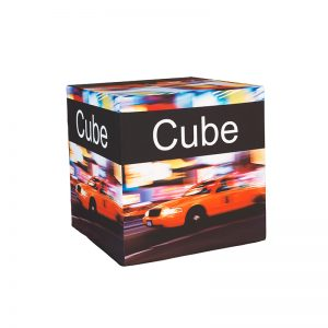 Fabric Cube | 4 Sided Fabric Cube | Fabric Branded Box | Branded box for events