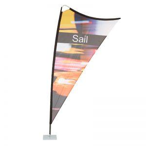 Sail Flag | Triangular Banner | Flag with Base | Fabric flag