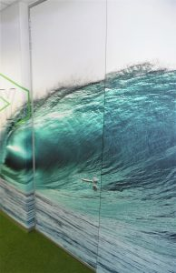 Custom Wallpaper Wave Design