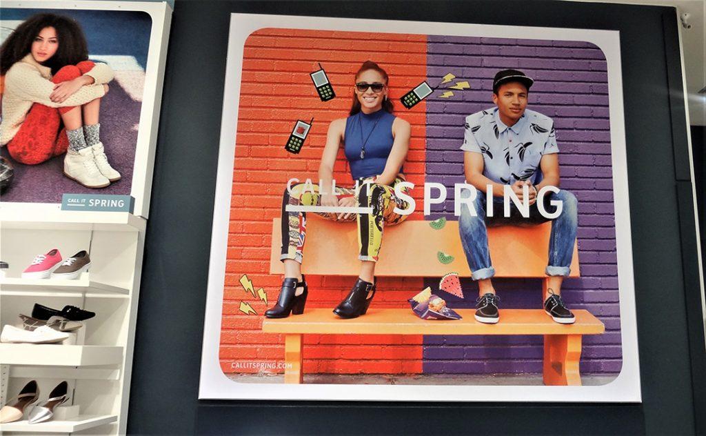 In Store Branding | Instore fabric frame