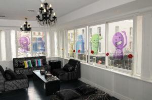 Event Branding - Reverse print vinyl on windows